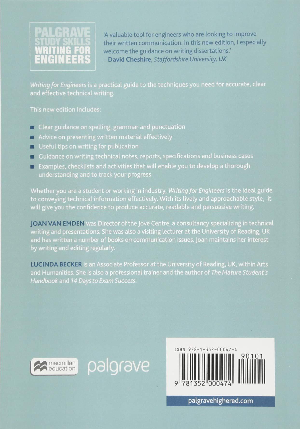 Writing for Engineers (Macmillan Study Skills): Amazon co uk: Joan