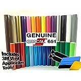 ORACAL 651 Multi-Color Vinyl Starter Kit Bundle for Cricut, Silhouette & Cameo Incl. 3M Installation Toolkit (10 rolls)