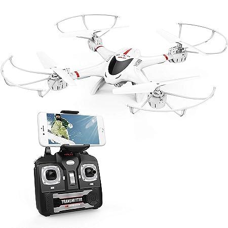 DBPOWER X400W FPV WLAN Quadcopter Drohne mit Kamera, Live-Video, Kopflosmodus, einfache Bedienung für Anfänger, stabile Flüge