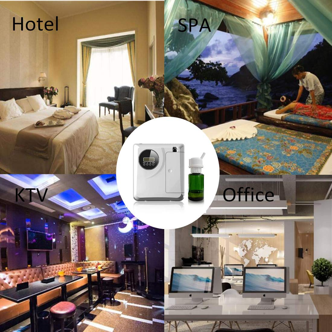 Kevinleo Scent Air Machine Aroma,Video Operation,Waterless,Flexible Work Time(Monday-Sunday),12V USA Plug,150ml Refill Bottle,Stand on Table or Mount on Wall,Fragrance Air Dispenser at Hotel SPA KTV by Kevinleo (Image #10)