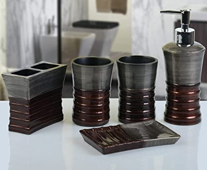 yiyida Retro Cuarto De Baño Set clásica resina baño Home – Set de  accesorios para diseño f71716f20826