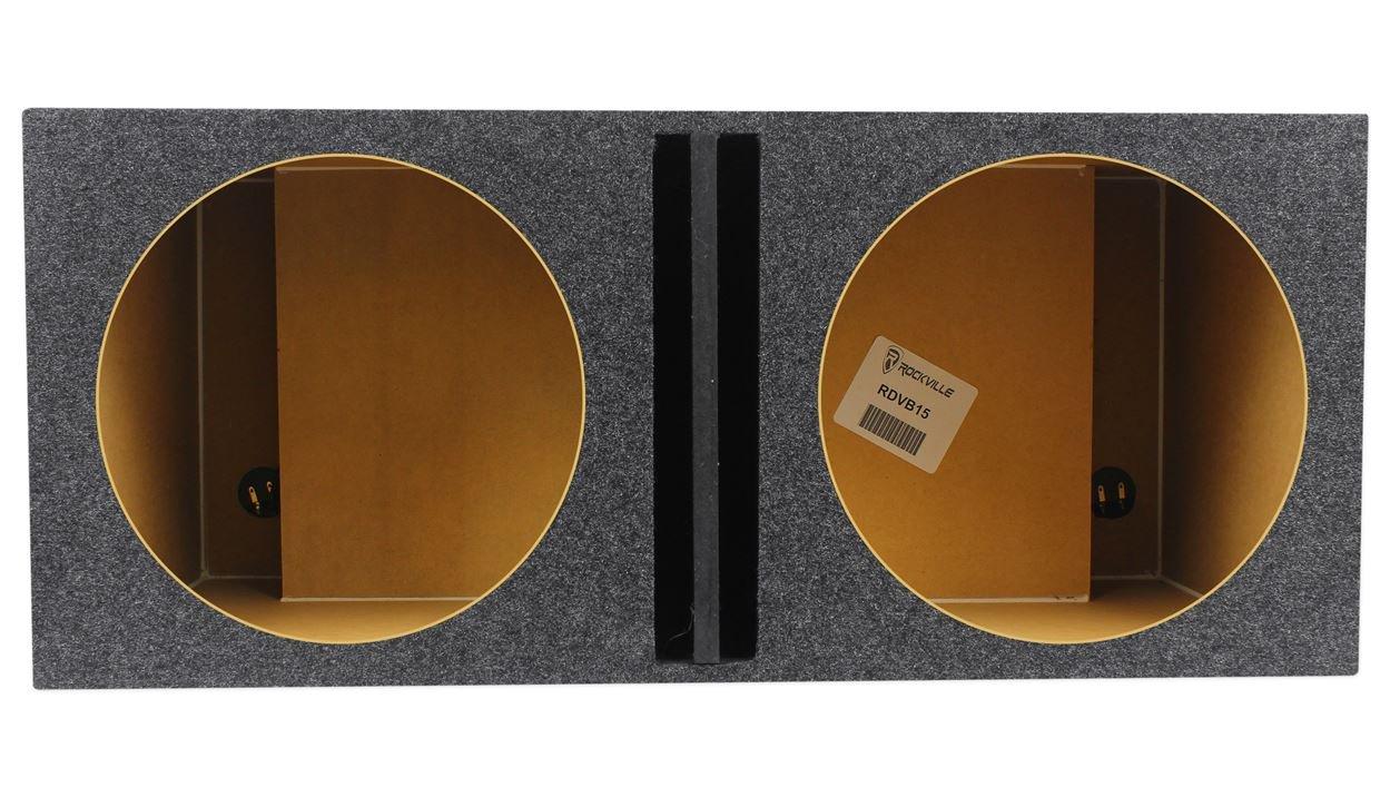 Rockville Vented Sub Box Enclosure For 2 Rockford Fosgate P1S4-15 15'' Subwoofers