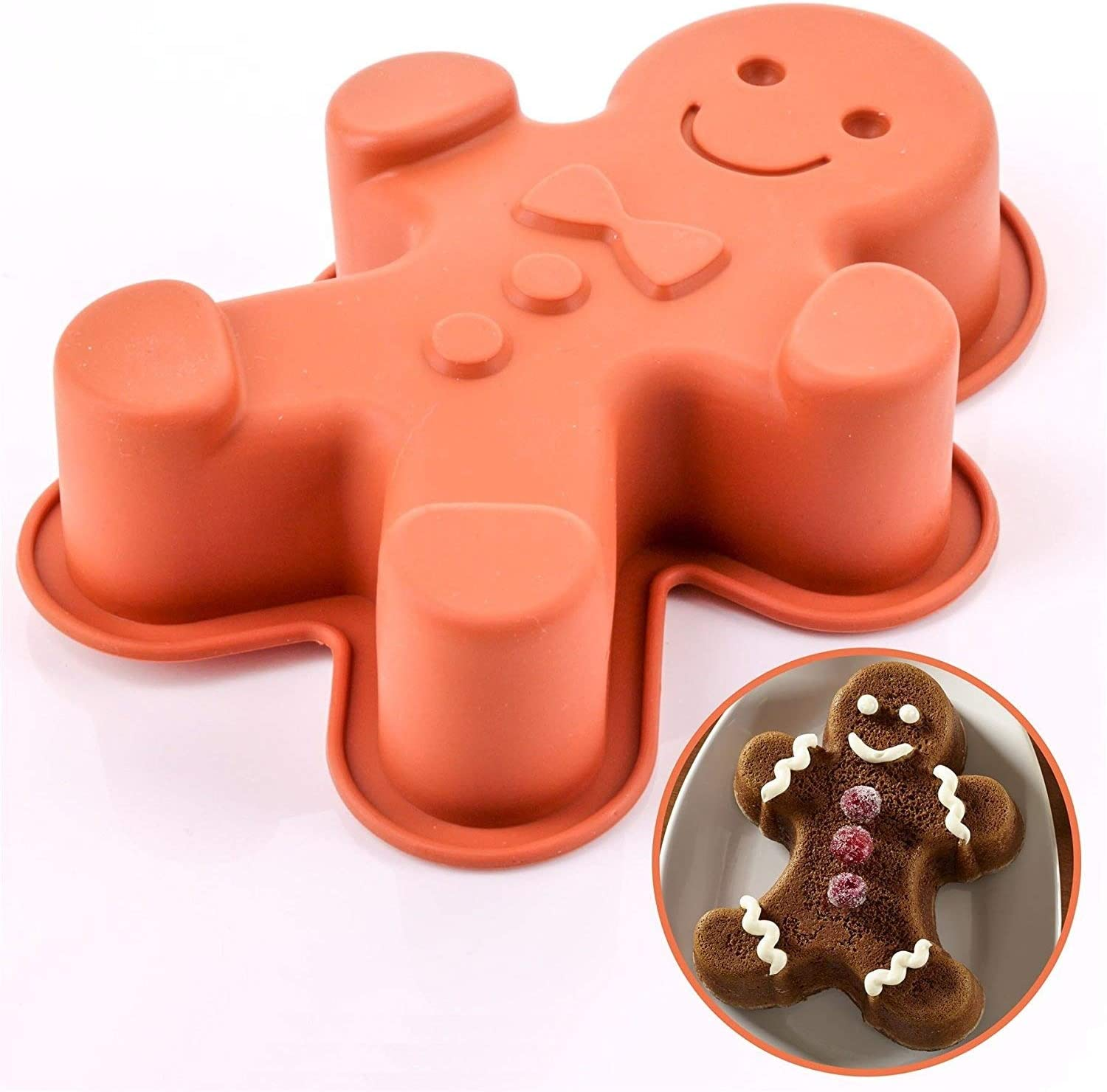 Gingerbread Man Cake Shape Silicone Mould