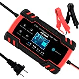 SUHU Car Battery Charger, 12V/8A 24V/4A Smart Automatic Battery Charger Automotive Trickle Charger for Car Truck…