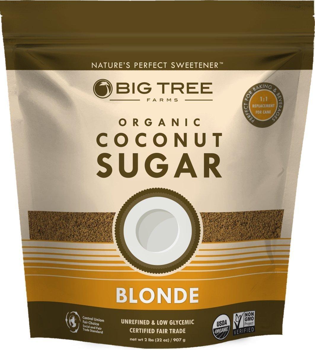 Big Tree Farms Organic Coconut Palm Sugar, Blonde, 2 LB (pack of 2)