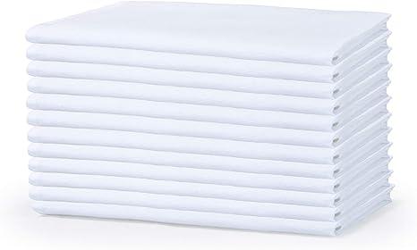 Multi Purpose Cotton Flour Sack Kitchen Towels Cotton Kitchen Napkins Flour Sack Tea Towels Flour Sack Dish Towels White GLAMBURG Flour Sack Towels White 24 Pack 26x26