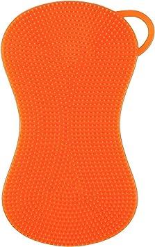 Silicone Sponge Kitchen Sponge Cleaning Sponge Multifunctional Single Pack Orange Amazon De Drogerie Korperpflege