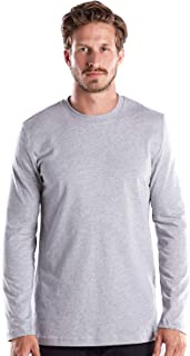 product image for US Blanks Men's Long Sleeve Premium Crew Neck, Made in USA