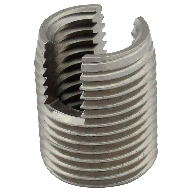Gewindeeinsä tze (selbstschneidend) mit Schneidschlitz - M6 - (5 Stü ck) - aus rostfreiem Edelstahl A1 (VA) - NIRO - SC9058 | SC-Normteile®