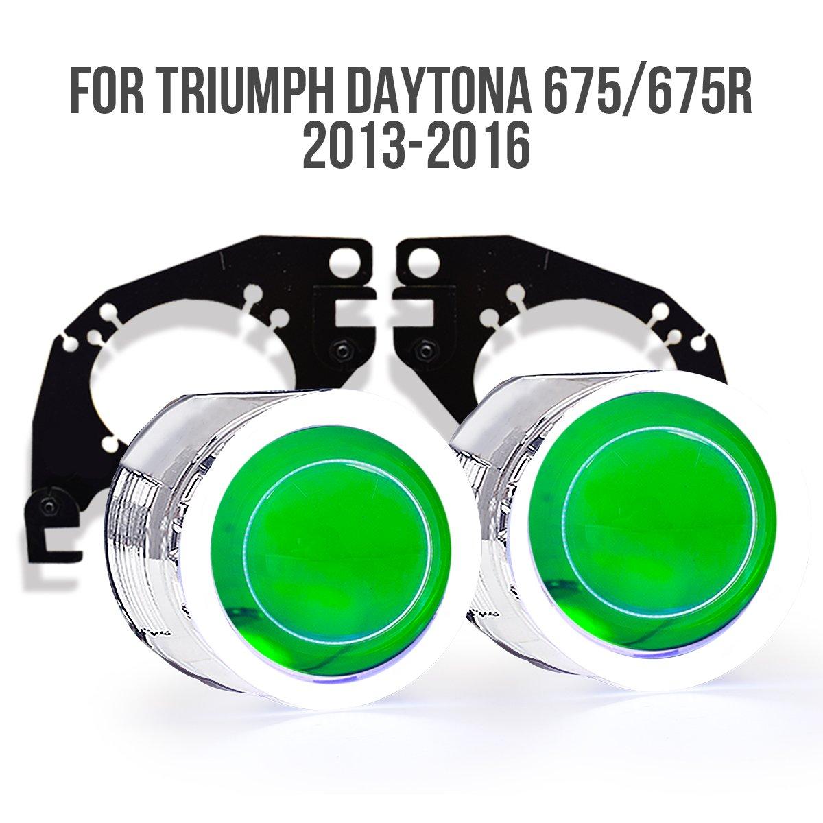 KT Tailor-Made HID Projector Kit HP7 for Triumph Daytona 675/675R 2013-2017 Red Demon Eye Kingtech