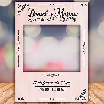 setecientosgramos Photocall Pink| Ventana Pink| Marco Pink| PhotoBooth Pink (Cartón 4mm) (90x120)