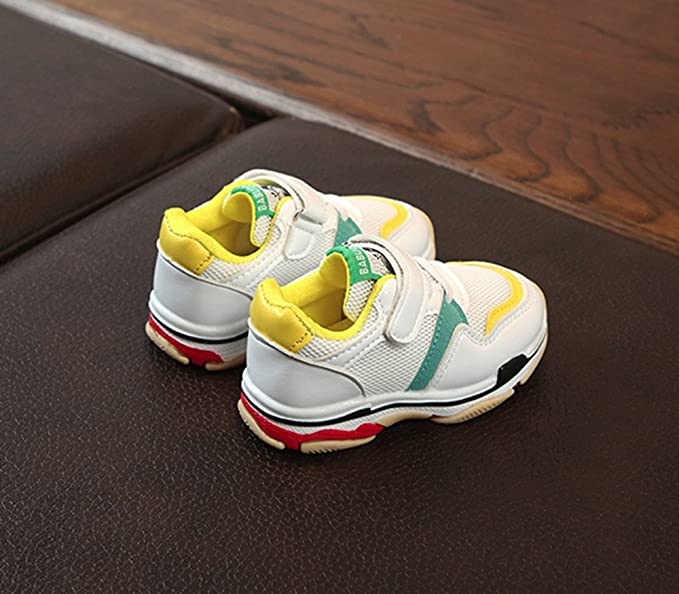 YanHoo Calzado Infantil niños y niñas Velcro Malla Transpirable Malla Infantil Zapatillas de Deporte Niños pequeños Deportes para niños Zapatos para Correr ...