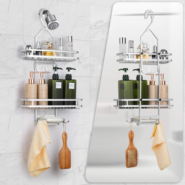 simplywire Bathroom Organiser Shelf 3 Tier Hanging Shower Caddy Basket ...