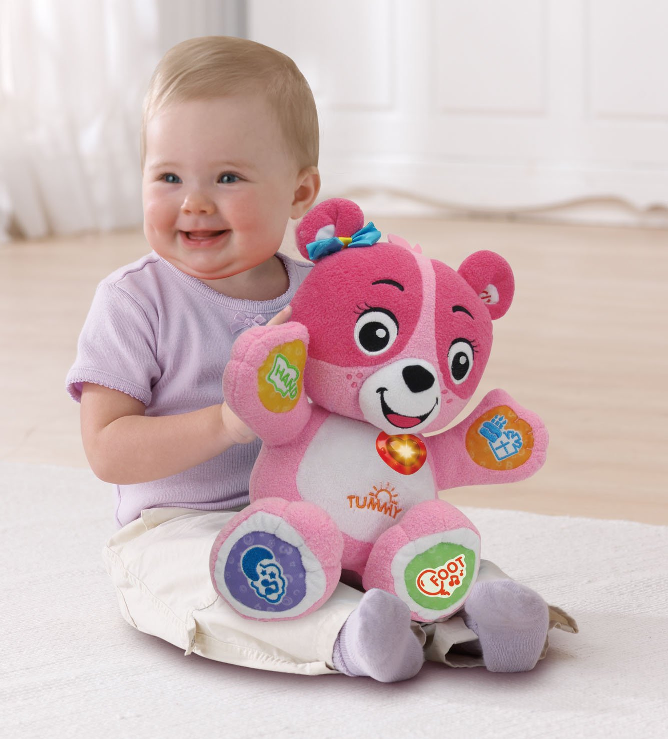 Amazon VTech Cora The Smart Cub Plush Toy Pink Toys & Games