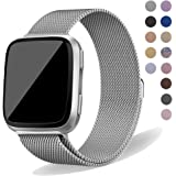 Oitom Compatiable Metal Bands Replacement for Fitbit Versa Smartwatch Lite Edition/Special Edition