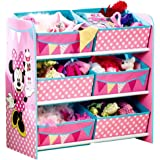 disney minnie mouse multi toy organizer f r spielzeug aus holz mit textilschubladen. Black Bedroom Furniture Sets. Home Design Ideas