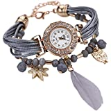Mehrunnisa Fashion Jewellery Analog Watch Bracelet With Feather For Girls