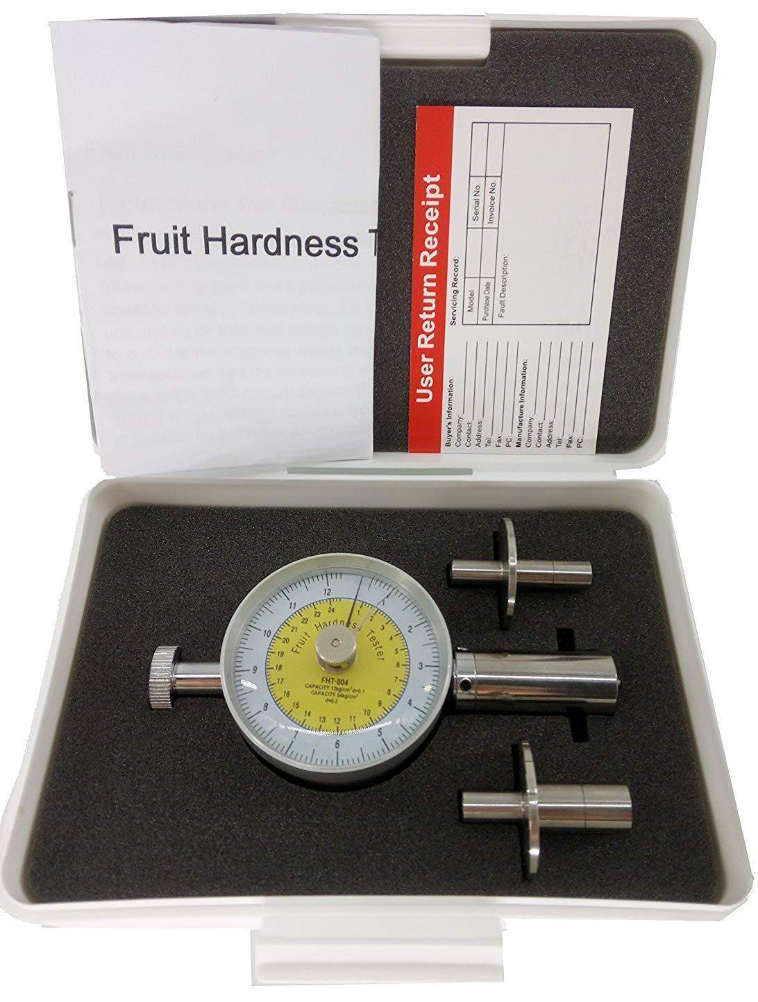 SR 11mm 0.5-24kg/cm2 SR VTSYIQI FHT-804 Fruit penetrometer Tester Fruit Sclerometer Fruit Hardness Tester Durometer Hardness Tester 8mm Fruit Durometer Pressure Head 0.5-12kg/cm2 ×105Pa ×105Pa