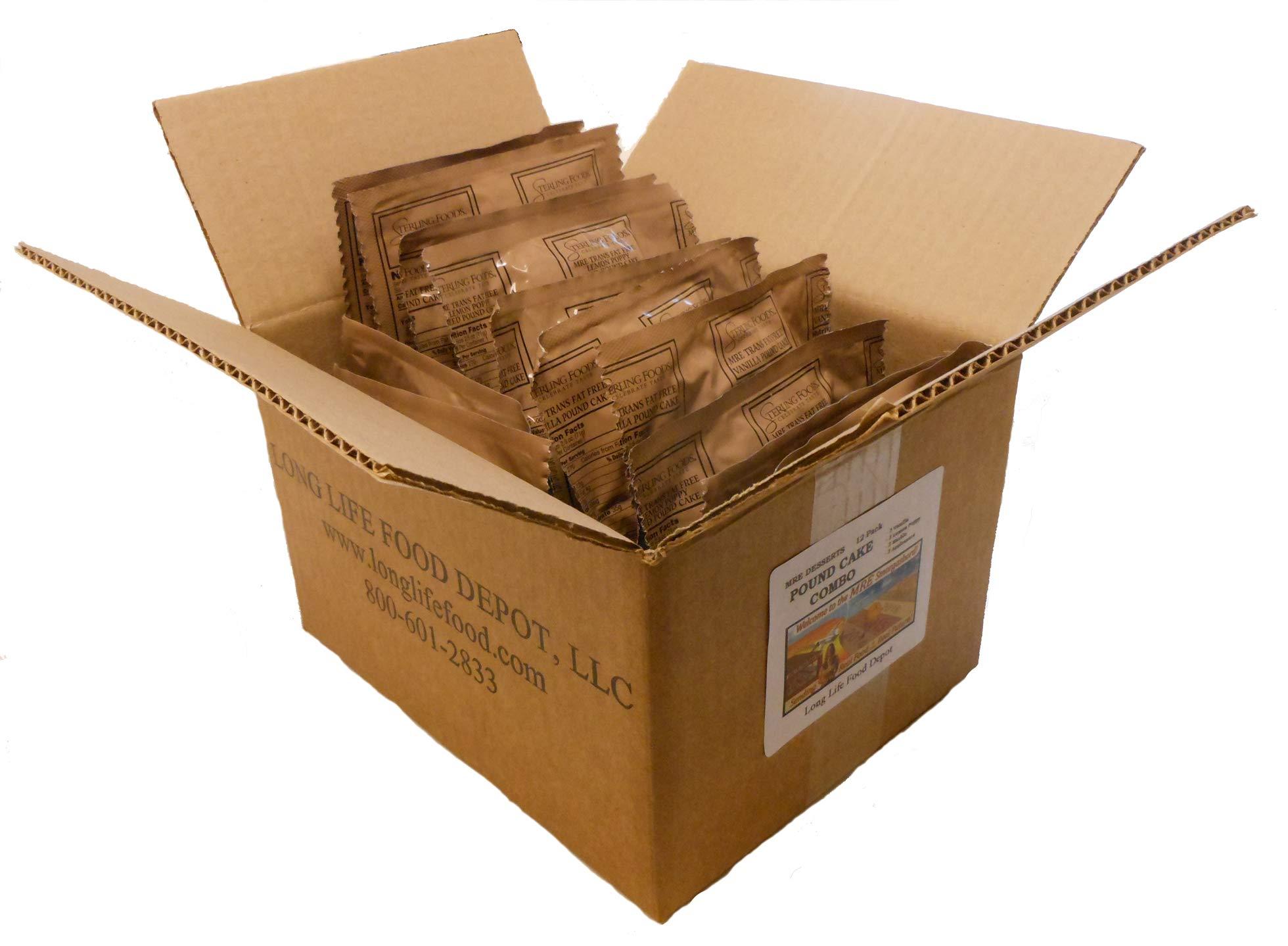 LLFD MRE Pound Cake Combo - 12 Pack