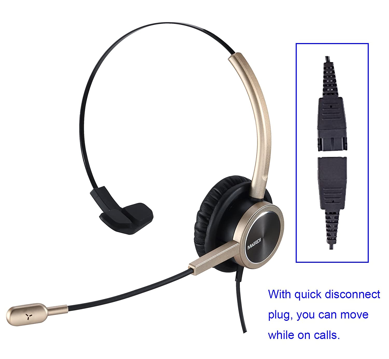 Amazon com: MAIRDI Headset for Cell Phone with Nosie