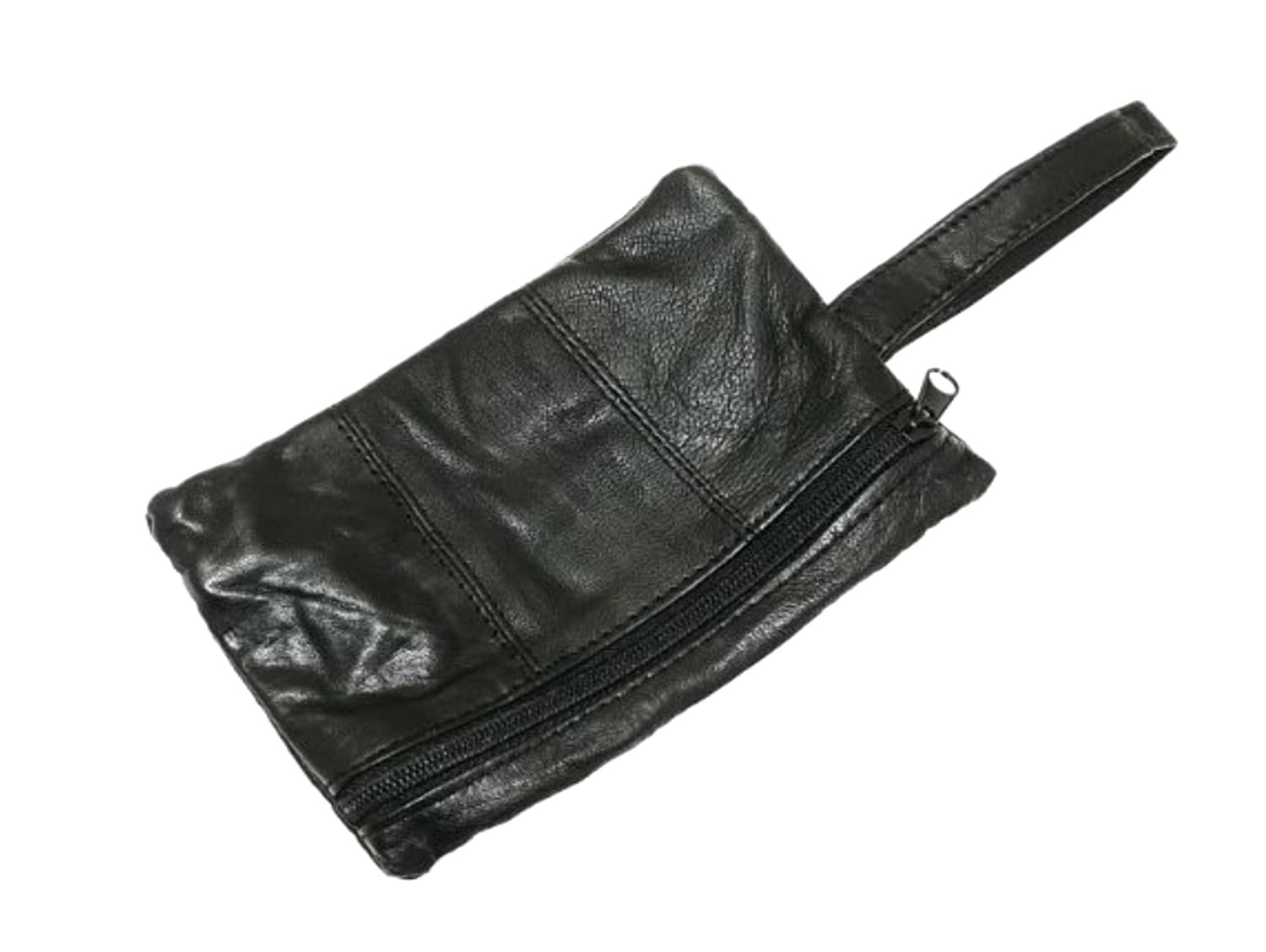 e2753afe1ff9 Black Leather Safety Money Belt (Folds Inside Trousers) Travel Accessory  Gift - A: Amazon.co.uk: Luggage