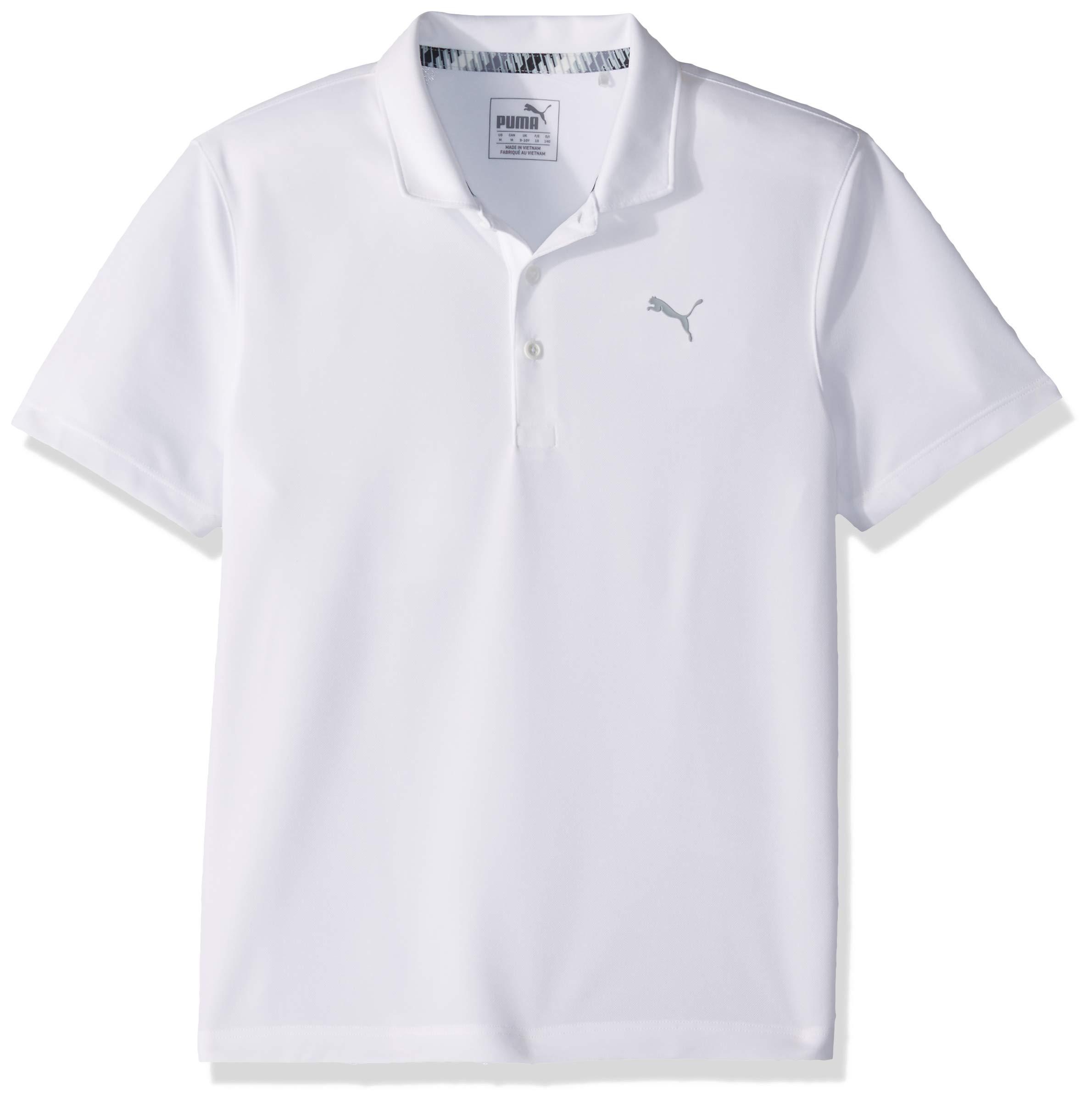 Puma Golf Boys 2019 Polo, Bright White, x Small