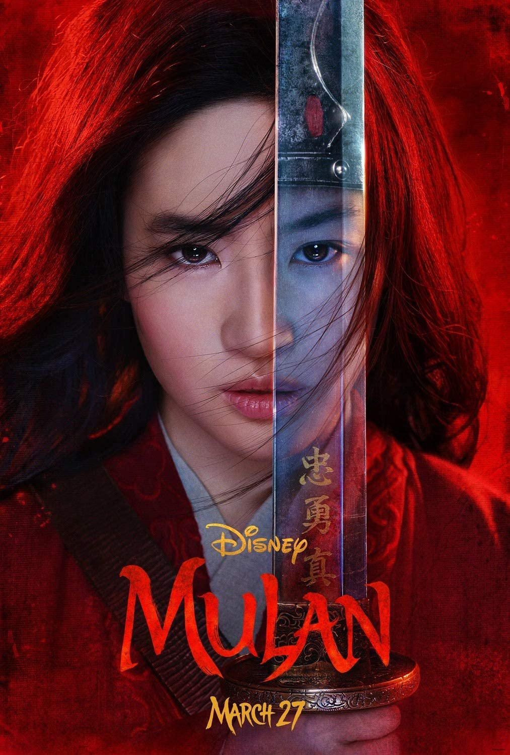 Amazon.com: Mulan 2020 Poster 27x40 Original D/S Movie Poster: Posters &  Prints