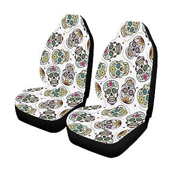 Astonishing Amazon Com Interestprint Beautiful Sugar Skulls Car Seat Machost Co Dining Chair Design Ideas Machostcouk
