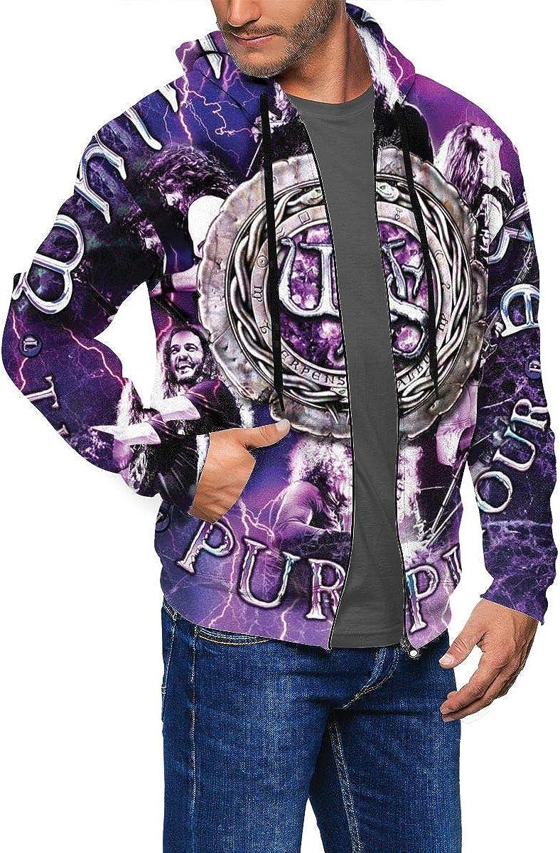AmyMcLeod Whitesnake Mens Casual Full Zip Sweatshirt