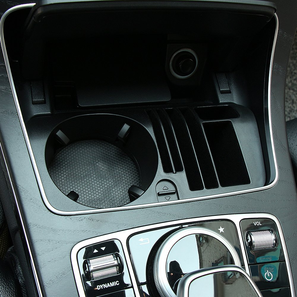 C-class 2015-2017 POZEL Car central storage box cup holder for Mercedes Benz E-class GLC-class 2016 2017