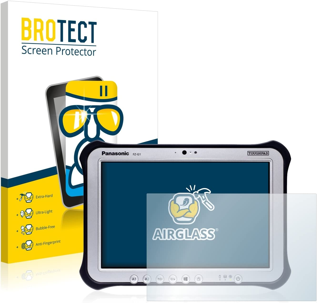 AirGlass Extreme Scratch Resistant brotect Glass Screen Protector compatible with Apple MacBook Pro 13 2020 Glass Protector