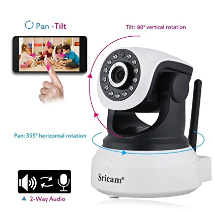 MARVTEK Sricam SP017 IP WiFi P2P Cámara de Video Vigilancia HD 720P con IR-LED