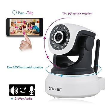 MARVTEK Sricam SP017 IP WiFi P2P Cámara de Video Vigilancia HD 720P con IR-LED Visión Nocturna con Detección de movimientos. Camara Vigila Bebe. ...