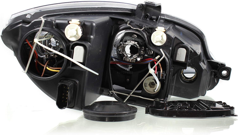 H7//H1 ohne Motor mit Blinker 1P 09.05 Scheinwerfer Set f/ür Leon