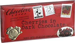 product image for Chocolove Xoxox Premium Chocolate Bar - Organic Dark Chocolate - Fair Trade Cherries - 3.2 oz Bars - Case of 12-95%+ Organic -