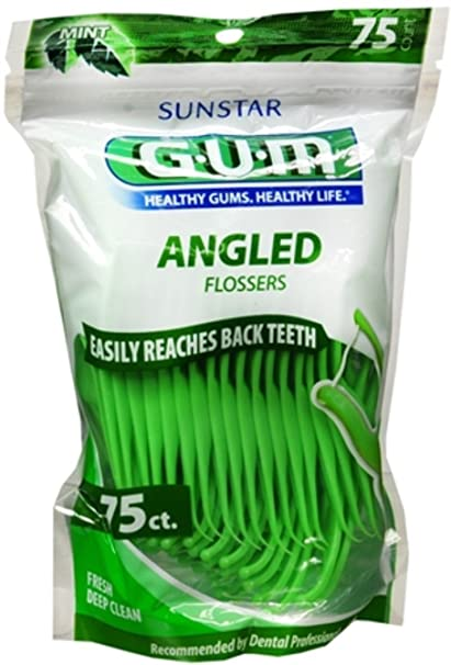 Eez-thru Angld Dental Flossers -75 Ct Flosses at amazon