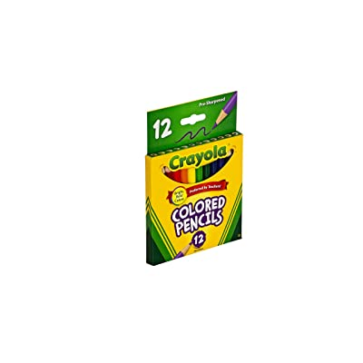 Crayola 68-4112 Colored Pencils, Short, 12-Pack: Toys & Games [5Bkhe1206728]