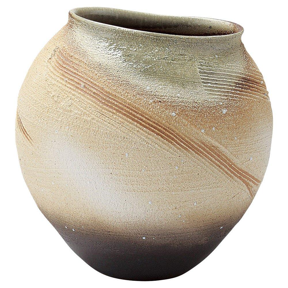 信楽焼 へちもん 花瓶 遊彩 1-2602 B01BY839SQ