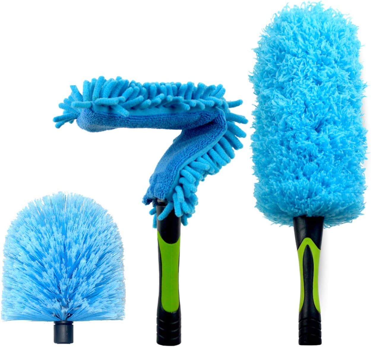 EVERSPROUT Duster 3-Pack   Hand-Packaged Cobweb Duster, Microfiber Feather Duster, Flexible Ceiling Fan Duster   Twists onto Standard 3/4 inch ACME Threaded Poles (Pole Sold Separately)(Soft Bristles)