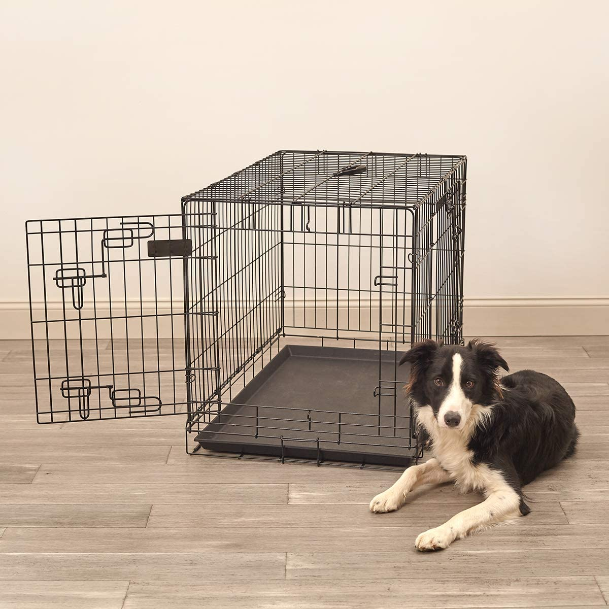Pet Sentinel Metal Foldable Pet Crate