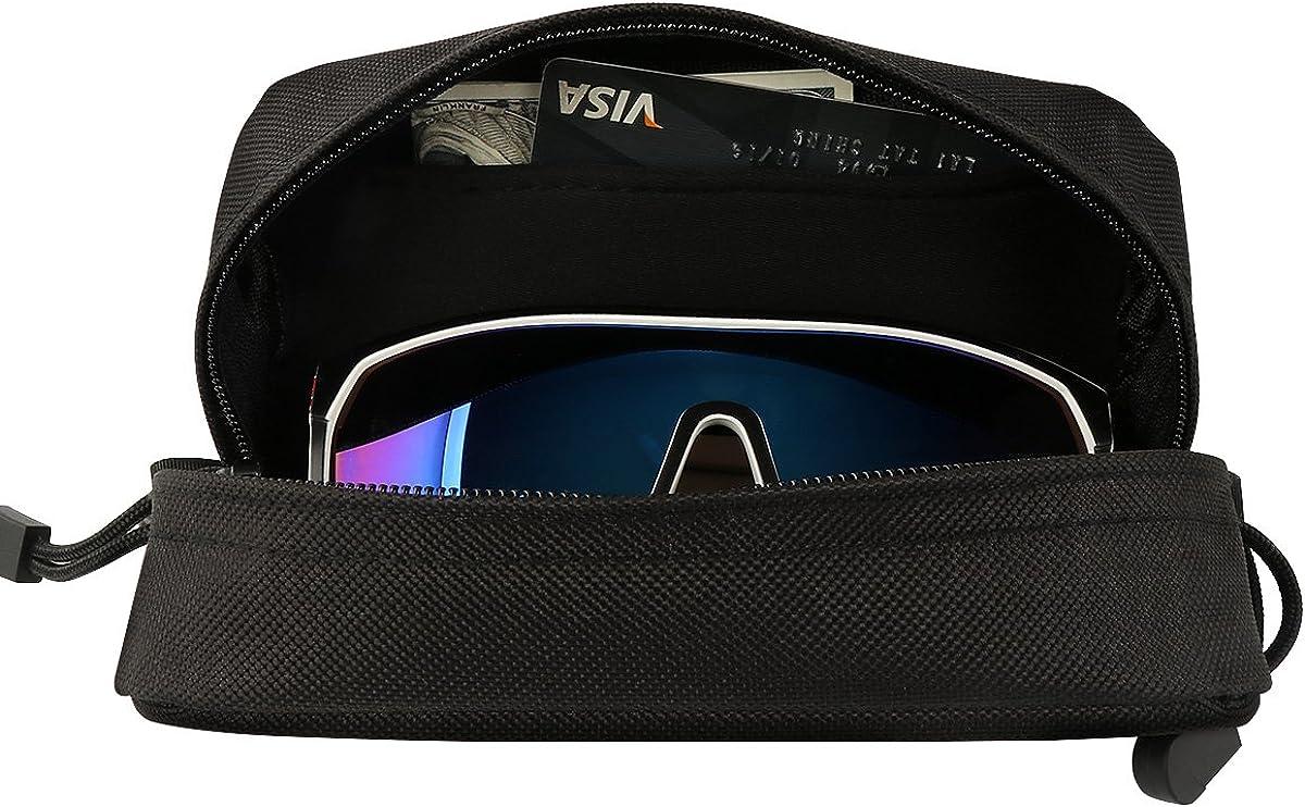 Shidan Tactical Molle Sunglasses Case Eyeglasses Hard Case with Clip 1000D Nylon Tactical Molle Double Zipper Sunglasses Carrying Case