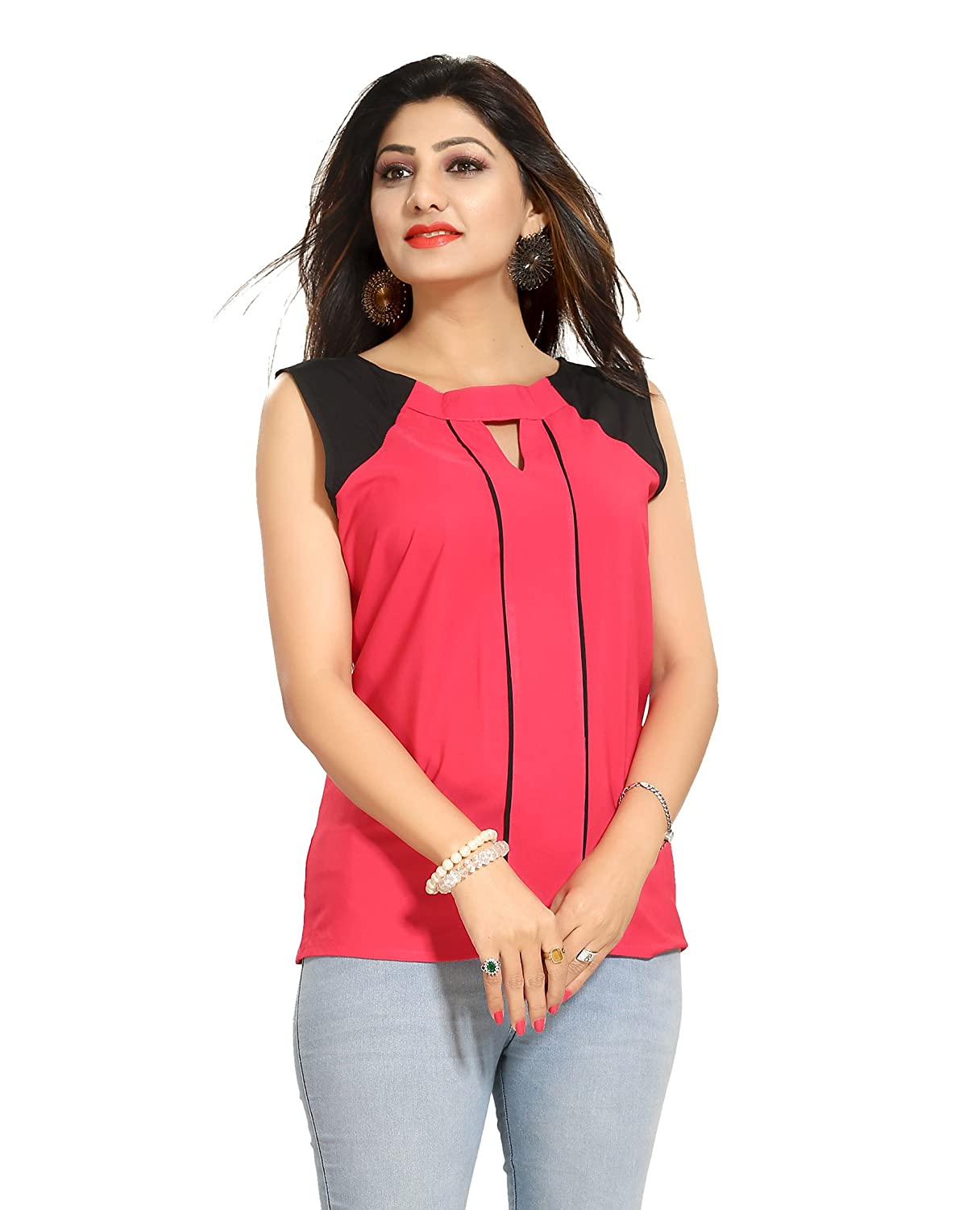 ALC Creation Women's Faux Crepe Top Pink