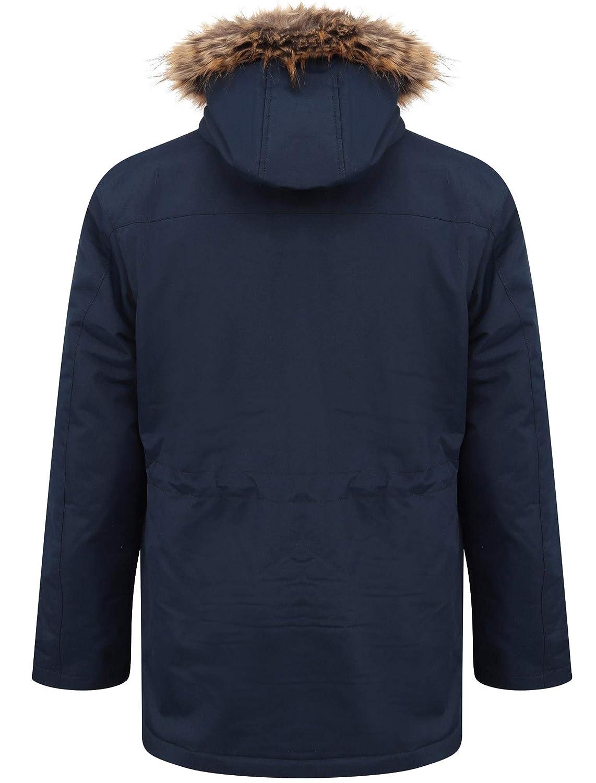 Tokyo Laundry Mens Hjalmar Hooded Multi-Pocket Utility Parka Coat