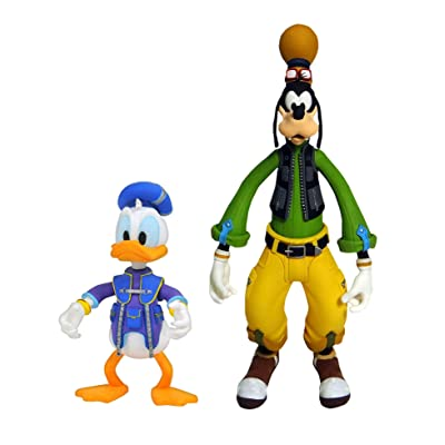 DIAMOND SELECT TOYS Kingdom Hearts 3: Goofy & Donald Action Figure 2 Pack, Multicolor: Toys & Games
