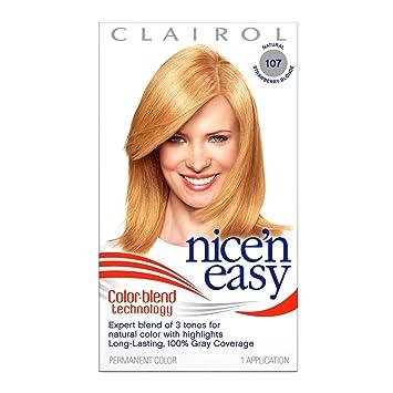 Clairol Nice N Easy Hair Color 107 Strawberry Blonde Kit