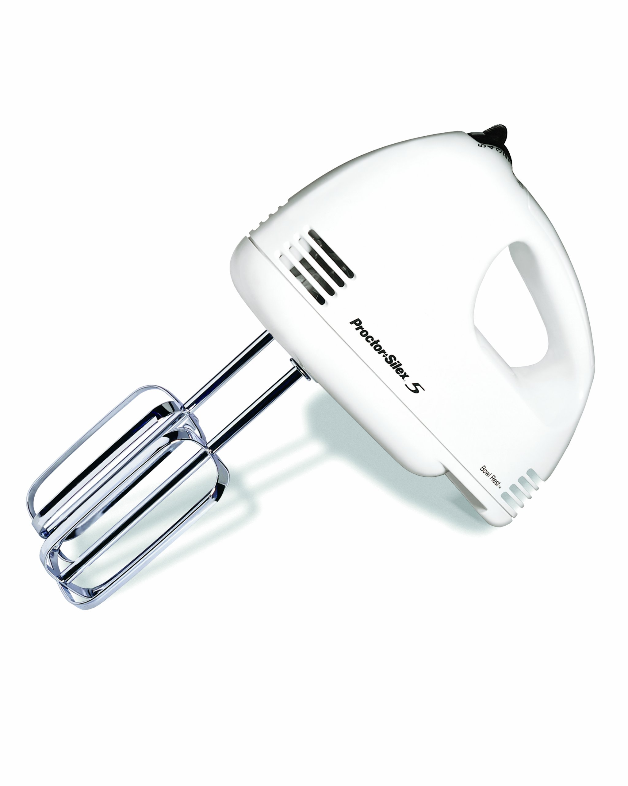 Proctor Silex 62515RY 5-Speed Easy Mix Hand Mixer, White by Proctor Silex