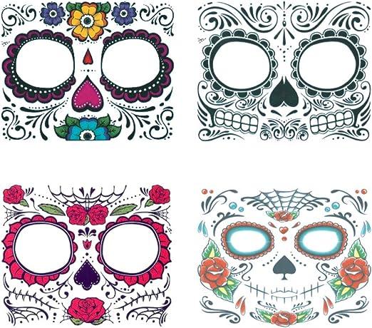 4 Piezas De La Cara Del Payaso Tatuaje Pegatinas De Halloween ...
