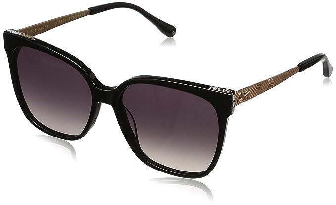 Ted Baker Skye Gafas de sol, Negro (Black/Grey), 56.0 para ...