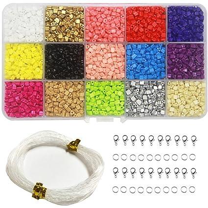 revendeur 3b477 09454 Ewparts 3mm mini Perles Multicolores en Acrylique DIY Kit ...
