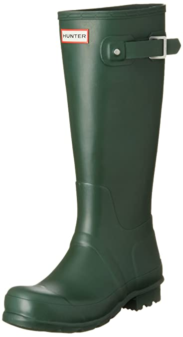 0fee6b98aae Hunter Women s Original Tall Hunter Green Rain Boots - 5 B(M) US